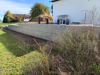 Ruderting, Gartenmauer & Böschungssich.