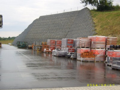 Hauzenberg Hagebau, Böschungssicherung