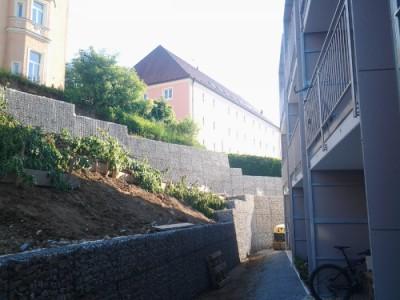 Passau, Böschungssicherung