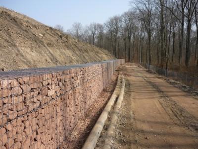 Eichelbuck Deponie, Böschungssicherung
