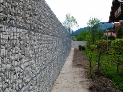 Wemholz Königssee, Lärmschutzgabionen
