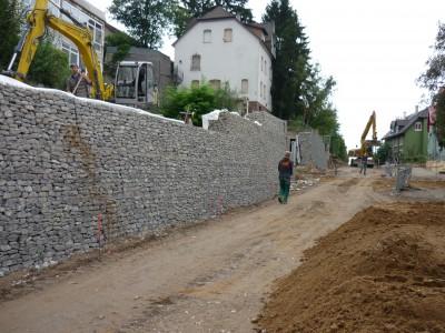 Königsbach Stein, Böschungssicherung
